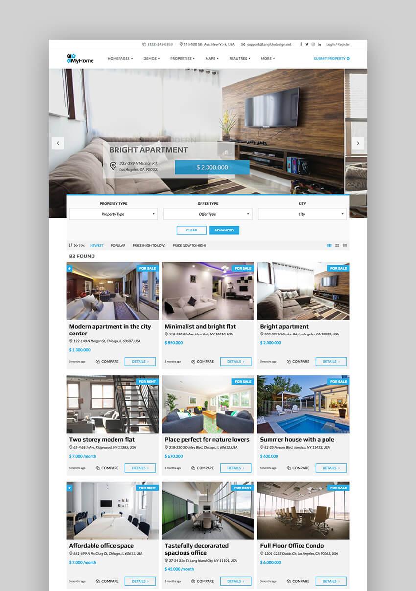 Theme WordPress My Home