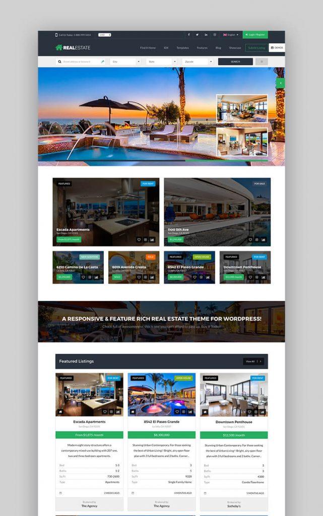 Theme bất động sản WordPress Real Estate 7