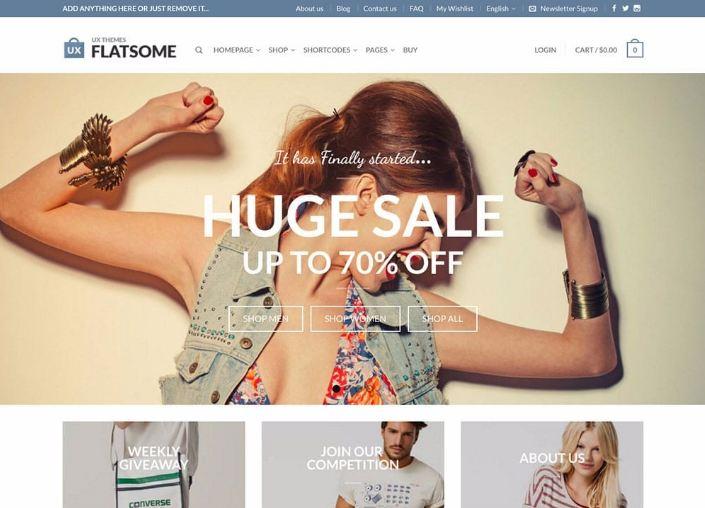 Flatsome là lựa chọn lý tưởng khi thiết kế website thương mại điện tử
