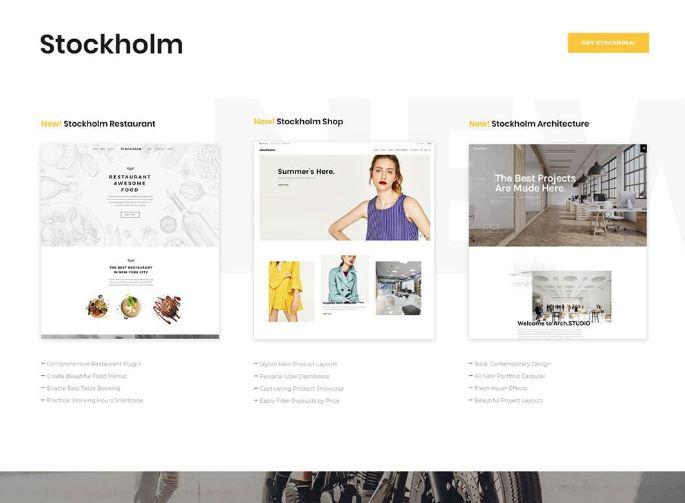Sử dụng theme Stockholm mang tới khả năng đáp ứng tốt theo nhu cầu